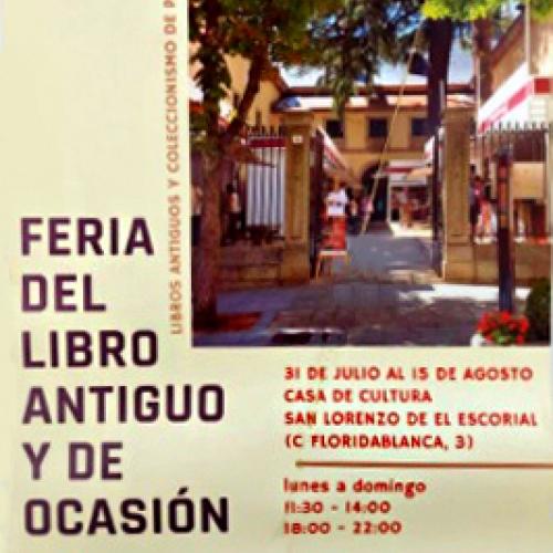 XXVIII Feria del Libro Antiguo y de Ocasión de San Lorenzo de El Escorial